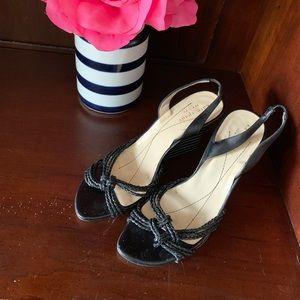 Kate Spade Wedge Stripe Heels